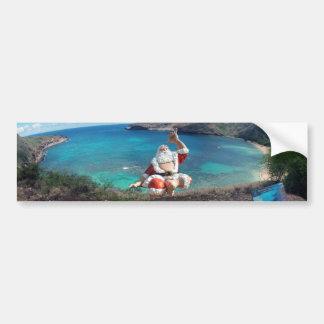 Santa Claus at Hanauma Bay Hawaii Bumper Sticker