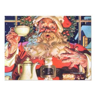 Santa Claus at Home Card