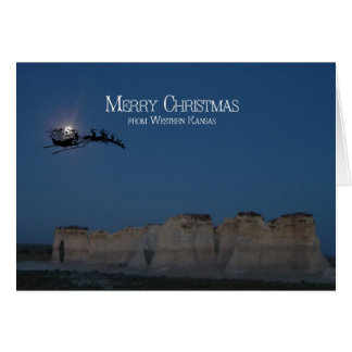 Santa Claus at Monument Rocks Greeting Cards