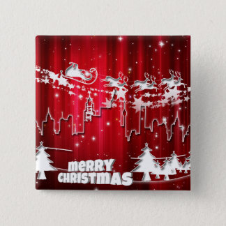 Santa Claus at work Pinback Button