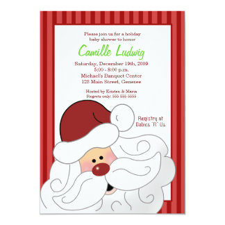 SANTA CLAUS Baby Shower Christmas Invitation