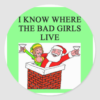 SANTA claus bad girl joke Stickers