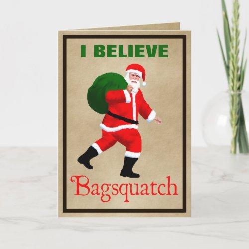 Santa Claus _ Bagsquatch Holiday Card