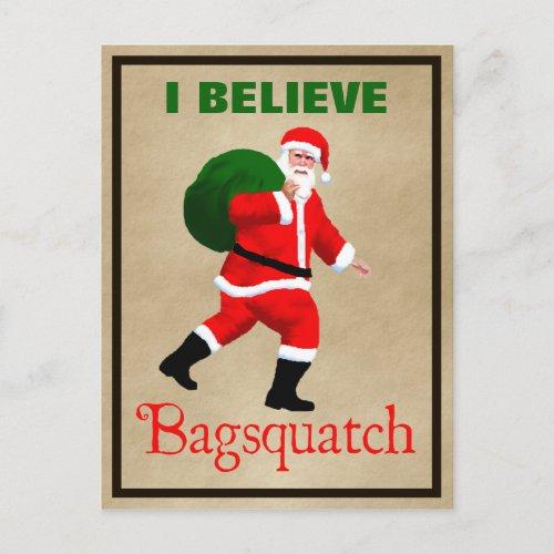 Santa Claus _ Bagsquatch Holiday Postcard