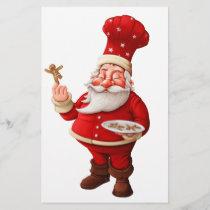 Santa Claus Bakes Gingerbread Men