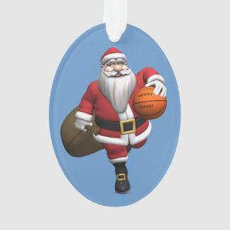 Santa Claus Basketball Player