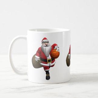 Santa Claus Basketball Player Classic White Coffee Mug