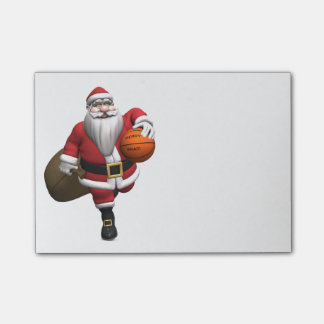 Santa Claus Basketball Player Post-it® Notes