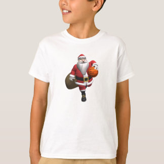 Santa Claus Basketball Player T-Shirt