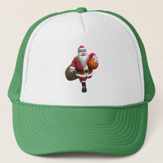 Santa Claus Basketball Player Trucker Hat