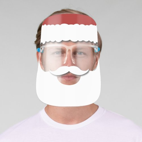Santa Claus Beard Christmas Face Shield