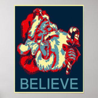 Santa Claus Believe Obama Parody Poster