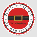 Santa Claus Belly Christmas Holiday Stickers