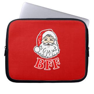 Santa Claus BFF Bestie Computer Sleeves