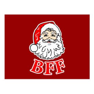 Santa Claus BFF Bestie! Postcard