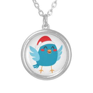 Santa Claus Bird Silver Plated Necklace