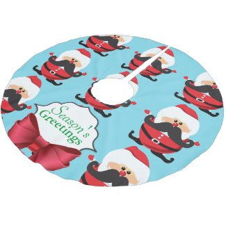 Santa Claus Brushed Polyester Tree Skirt