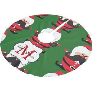 Santa Claus Christmas tree skirt