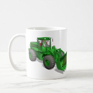 Santa Claus Bulldozer Operator Coffee Mug