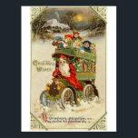 "Santa Claus Bus and Children Postcard<br><div class=""desc"">Santa Claus Bus and Postal Card Children</div>"