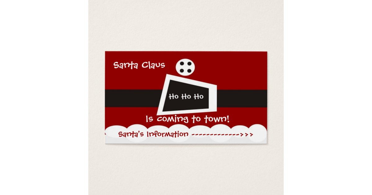 santa business cards - Tire.driveeasy.co