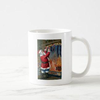 Santa Claus Busy Filling Stockings Coffee Mugs