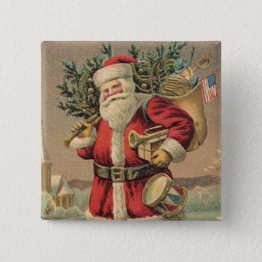Santa Claus Button
