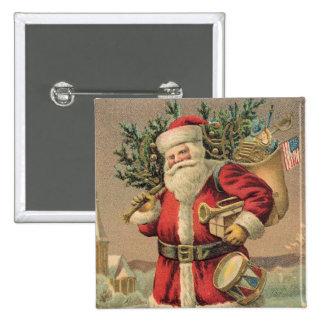 Santa Claus 2 Inch Square Button