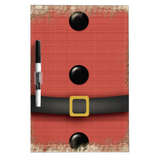 santa claus buttons and belt red Dry-Erase board