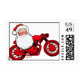 Santa Claus Cafe Racer Stamps