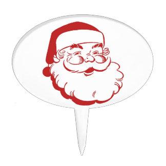 Santa Claus Cake Picks