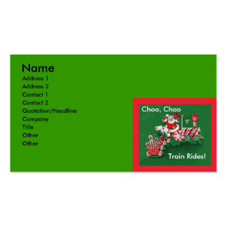 Santa Claus Candy Train Christmas Double-Sided Standard Business Cards (Pack Of 100)