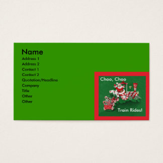 Santa Claus Candy Train Christmas Business Card