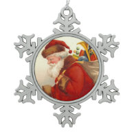 Santa Claus Carrying Sack of Toys Ornament