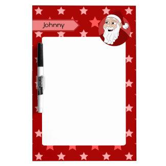 Santa Claus Cartoon Dry-Erase Board