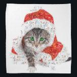 """santa claus cat - cat collage - kitty - cat love bandana<br><div class=""""desc"""">cat , &quot;merry christmas &quot;, pet , kittens , &quot;tabby cat&quot; , &quot;cute cats &quot;, &quot;christmas cat&quot; , &quot;, &quot;cat kitten&quot; , &quot;cat mosaic&quot; , &quot;happy christmas &quot;</div>"""