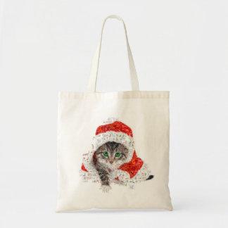 santa claus cat - cat collage - kitty - cat love tote bag