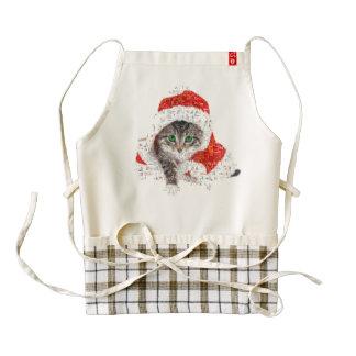 santa claus cat - cat collage - kitty - cat love zazzle HEART apron