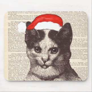 Santa Claus cat, Christmas Gifts Mouse Pad