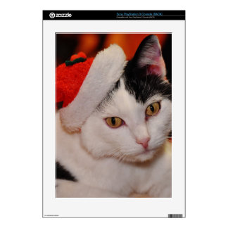 Santa claus cat - merry christmas - pet cat decals for the PS3