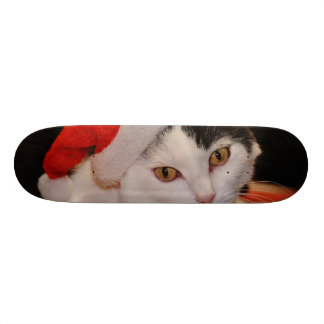 Santa claus cat - merry christmas - pet cat skateboard deck