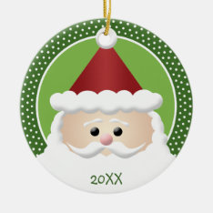 Santa Claus Ceramic Ornament at Zazzle