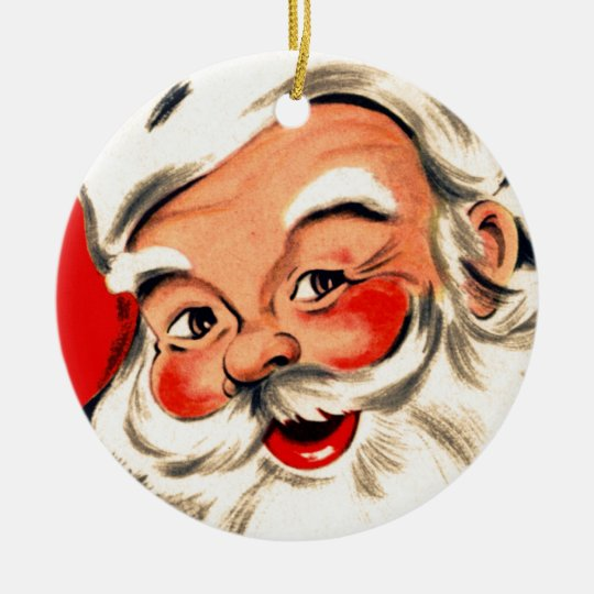 Santa Claus Ceramic Ornament