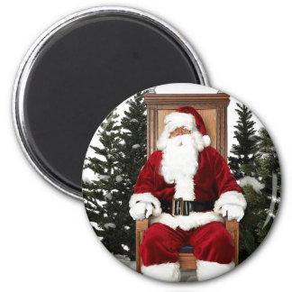 Santa Claus Chair Refrigerator Magnet