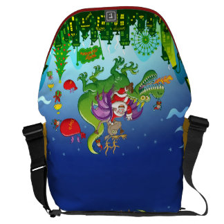 Santa Claus Changed his Reindeer for a Dragon Courier Bag
