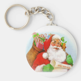 Santa Claus -Checking His List Keychain