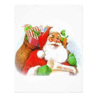 Santa Claus -Checking His List Letterhead