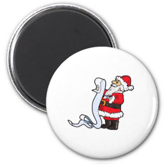Santa Claus Checking His List Refrigerator Magnet