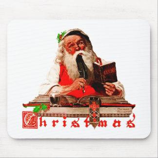 Santa Claus Checking His List Mouse Pad