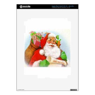 Santa Claus -Checking His List Skin For iPad 3